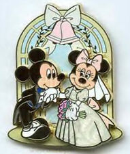 Groom Mickey Bride Minnie Wedding Married Anniversary Marriage Disney Pin Honey