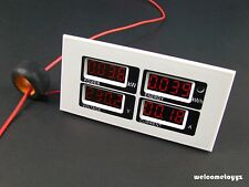 4 IN 1QUAD RED LED DISPLAY V A kW kWh COMBO PANEL METER +CT+COMMUNICATION MODULE