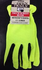 12 Pairs Touch Screen High Vis Mechanic's Work Gloves (PPE) Large