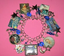 """STARRY STARRY NIGHT"" -VINCENT VAN GOGH-ALTERED ART CHARM BRACELET"
