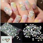 1000X Nail Art Flatback Crystal AB 14 Facets Resin Round 4mm Rhinestone Beads