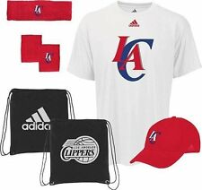 Los Angeles Clippers Adidas NBA To the Court 5-Pc Shirt Hat Band Combo Pack L5