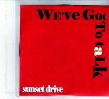 (DU701) Sunset Drive, We've Got To Talk - DJ CD