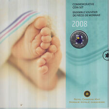 2008 Baby Coin Set with Coloured Teddy Bear Quarter