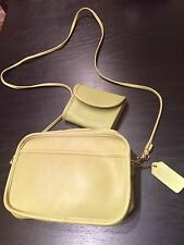 coach vintage purse ceissbody and wallet neon green