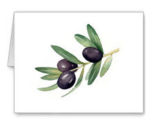 OLIVE BRANCH note cards by watercolor artist DJ Rogers