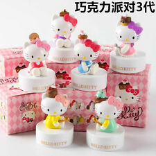 New Hello Kitty 40TH Anniversary HELLO PARTY 6 Figures Chocolate Doll Set Gift-3
