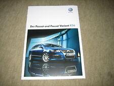 VW Passat R36 / VW Passat Variant R36 Prospekt Brochure von 10/2008, 20 Seiten