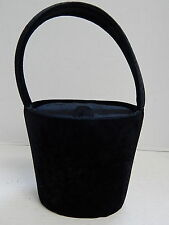 Salvatore Ferragamo Italy Black Velvet Top Flap Evening Bag