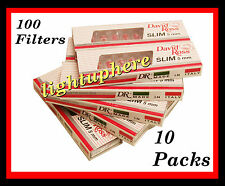 DAVID ROSS DISPOSABLE EXTRA SLIM CIGARETTE HOLDERS (10 PACKS/100 FILTERS)