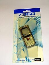 Nokia 7360 - Gold / white Front and white Back Cover / Fascia , NEW , bargain