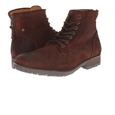 GBX Mens Dekalb 57658 Leather Suede Rear Zippered Casual Work Boot Runne Size 13