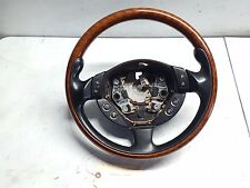 05-08 MASERATI QUATTROPORTE F-1 M139 STEERING WHEEL 3 SPOKE BLACK /WOOD GRAIN