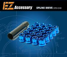 20 Pc Set Open End Spline Drive Lug Nuts | Blue | 12x1.5 Dodge Ford T-Bird Focus