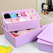 Underwear Socks Ties Bras Wardrobe Organizer Drawer Storage PP Plastic Box
