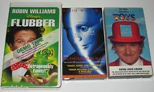 3 VHS ROBIN WILLIAMS Children's Movies: TOYS, FLUBBER & BICENTENNIAL MAN - Exlnt