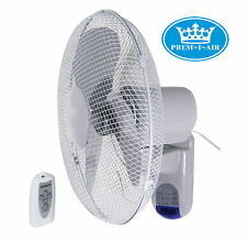 "Prem-I-Air 16"" (40 cm) Home Office Wall Desk Fan with Remote Control and Timer"