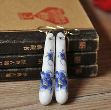 Chinese Style Ceramics Blue and White Porcelain Drop/Dangle Earring for Women