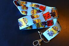 MINIONS ! DESPICABLE ME CARTOON ! Neck Strap Keychain ID Badge Holder US seller