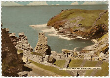 POSTCARD CASTLE ARCH AND NORTH COAST TINTAGEL CORNWALL. POSTED