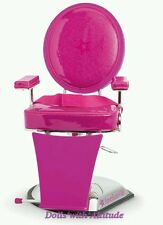 New American Girl Hair Stylist Pink Salon Styling Chair for Dolls Beauty Parlor