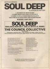 19/1/85PN44 ADVERT: THE COUNCIL COLLECTIVE SOUL DEEP SINGLE & REMIX 15X11