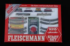 Fleischmann train N 9315 coffret start set locomotive vapeur + wagons