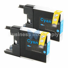 2 CYAN LC71 LC75 Ink Cartridge for Brother MFC-J5910DW MFC-J625DW MFC-J6510DW
