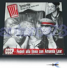 "CCCP con AMANDA LEAR ""TOMORROW"" RARO 12"" MIX"