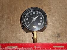"""Weksler Dial Pressure GAUGE; 0-200 p.s.i.; 1/4"""" npt; Phosphor Bronze"""
