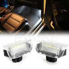 White CAN-bus LED Side Door Courtesy Lights #V For VW Golf GTi EOS Jetta Passat