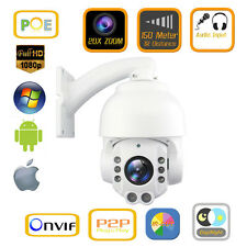 POE 20X Zoom Outdoor HD 1080P PTZ IP Speed Dome Camera SONY CMOS 150M IR Audio