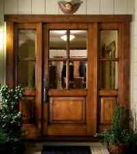 KNOTTY ALDER 4 Lite Craftsman Entry Door