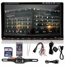 "HD 7"" 2 Din In Dash Car Stereo DVD Player GPS Navigation Bluetooth Radio+CA"