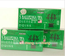 5 Boxes -3 Ballerina Herbal Tea Diet Drink Extra Strength Constipation Slimming