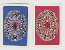 DIAMONDS & RUBIES X 2  ONLY SINGLE VINTAGE PLAYING/SWAPCARD....BLING