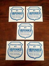 5 Home Alarm Security Stickers / Decals Signs for Windows & Doors ADT Brinks