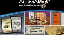 "AlumaMark CO2 Laser Satin Brass .020"", 12""x20"" 1 box (5 sheets) Laser Engraver"