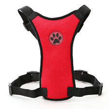 20-24'' Red Air Mesh Puppy Pet Dog Car Harness Safety for Medium Dogs Travel