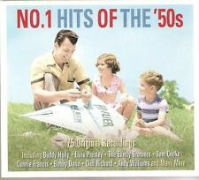 NO. 1 HITS OF THE '50s - 3 CD BOX SET - BUDDY HOLLY * ELVIS & MANY MORE