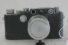 "Leica III-C Grey ""K"" Rangefinder 35mm Film Camera with Summitar 50 F2 Lens, Cap"