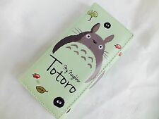 TOTORO GREEN WALLET COIN WOMEN GIRL PURSE ZIPPER JAPANESE CARTOON CARD HOLDER Z4