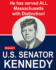 John F. Kennedy JFK for U.S. Senator 1956 Reprint Campaign Poster 8 x 10 Photo