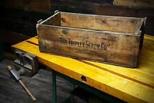 VINTAGE WOODEN BOX/CRATE TRIPLEX SCREW CO. CLEVELAND OHIO ADVERTISING INDUSTRIAL