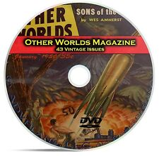 Other Worlds, 43 Classic Pulp Magazines, Golden Age Science Fiction DVD CD C53