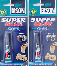 2 x 3g Bison Super Glue Gel Tube Ideal For Pool & Snooker Cue Re Tipping.
