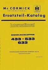 Ersatzteilkatalog IHC 433 533 633 Ersatzteilliste