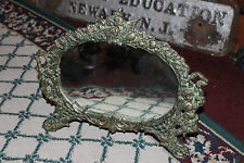 Superb Victorian Art Deco Style Vanity Mirror-Brass-Angels & Cherubs-Warner 2002