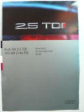 Prospekt Audi A6 2.5 TDI mit 140 PS, 6.1994, 4 Seiten