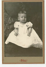 """Cabinet Photo - Close Up, Baby Girl in Long Gown, Norway, Michigan """"Lilly"""""""